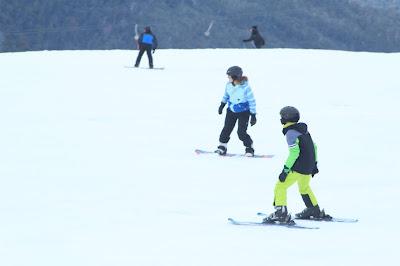 郑明析, 下雪, 滑雪, 冬季