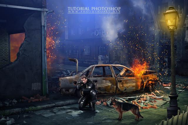 44 Tutorial Photoshop Dramatic Manipulation WAR part 2