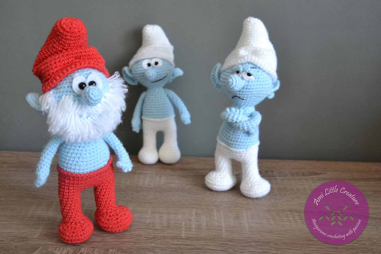 Ami Little Creature: SMURFS Papa Smurf - pattern