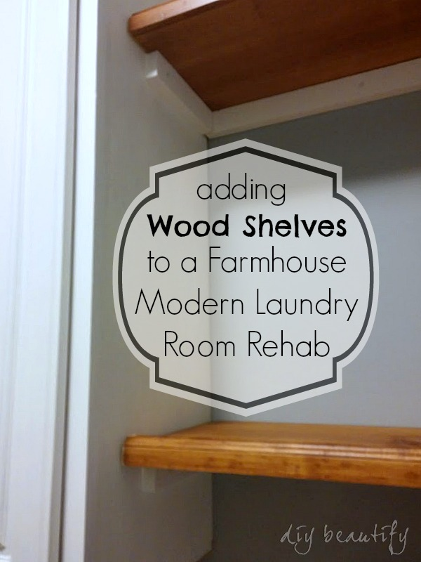 Adding shelves to laundry room DIY beautify