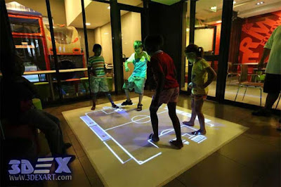 interactive floor projector for kids games and education, live system