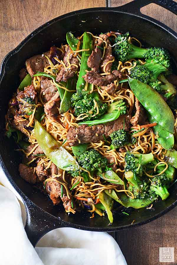 beef stir fry with noodles  life tastes good