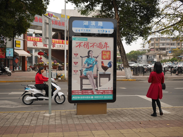 "Lunar New Year advertisement for the AIST ""beauty hospital"" in Zhongshan, China"