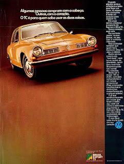 propaganda Karmann-Ghia TC - 1973, Karmann-Ghia TC 73, propaganda Volkswagen - 1973, vw anos 70, carros Volkswagen década de 70, anos 70; carro antigo Volks, década de 70, Oswaldo Hernandez,