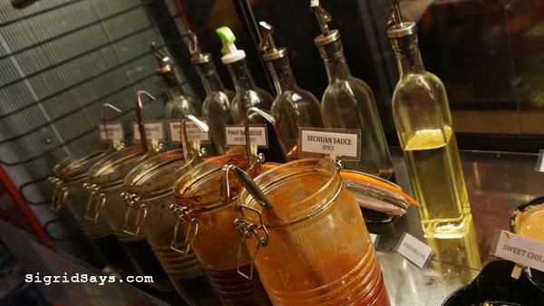 Bowlero Mongolian Bowl - Bacolod restaurants - sauces