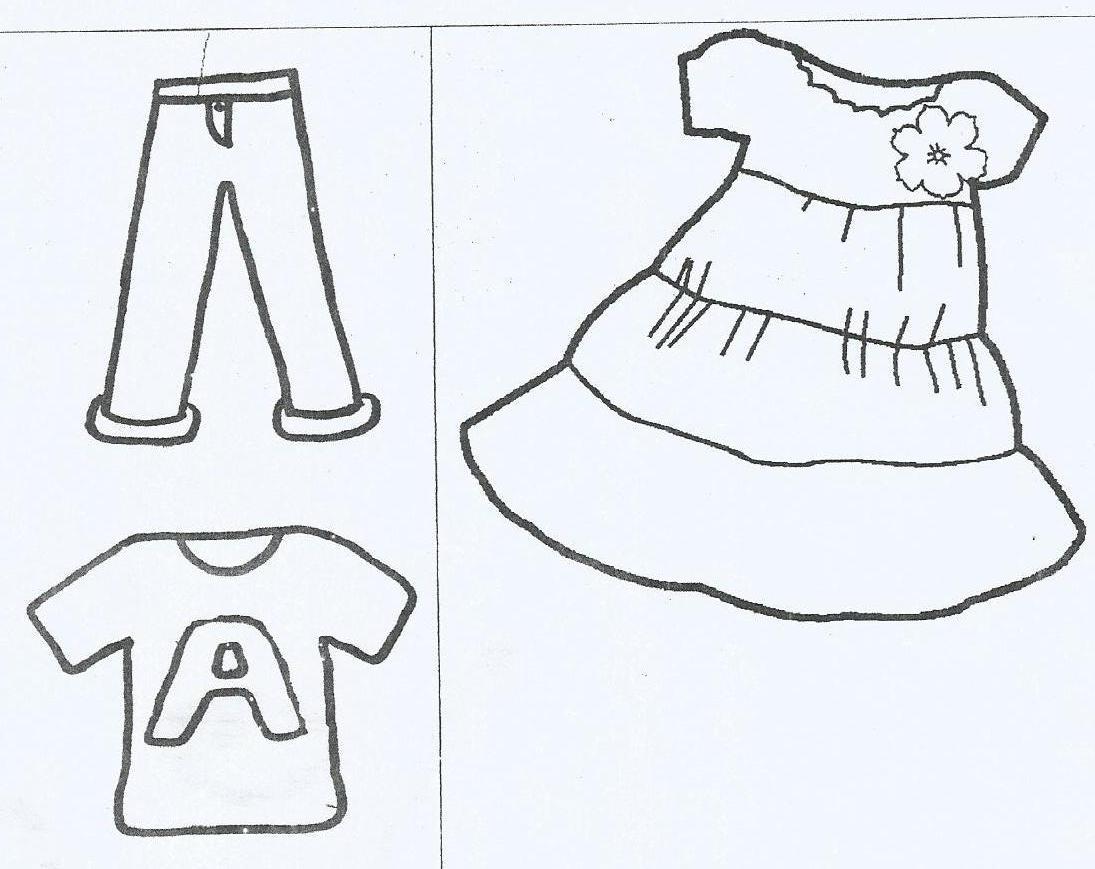 Gambar Mewarnai Baju Tk