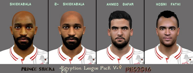 PES 2016 Egyption League Face Pack v9 by Prince Shieka