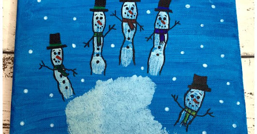 Snowman Hand Print Canvas Keepsake