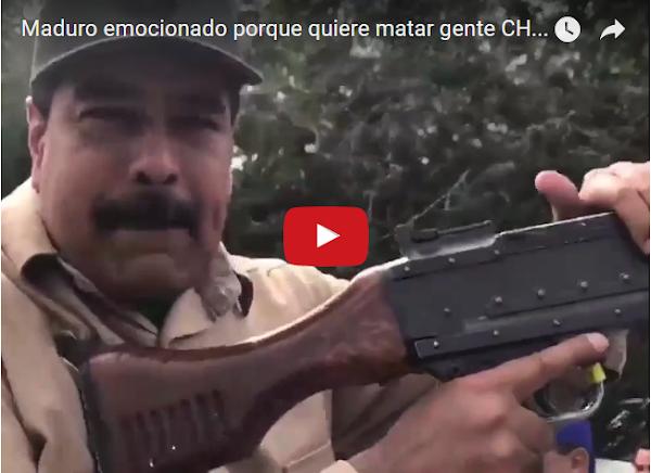 Nicolás Maduro demuestra su sed de Sangre disparando
