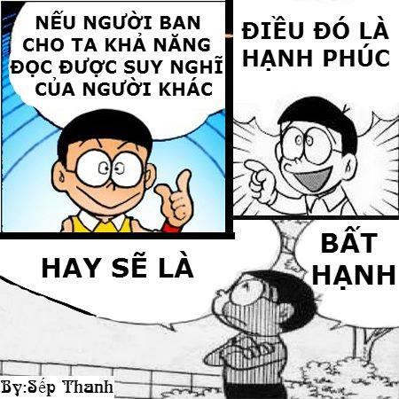 Phọt cười ảnh chế Nobita kèm câu nói chế hay cực chất