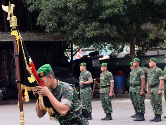 Hartono Pimpin Penerimaan Prajurit di Korem Binaiya