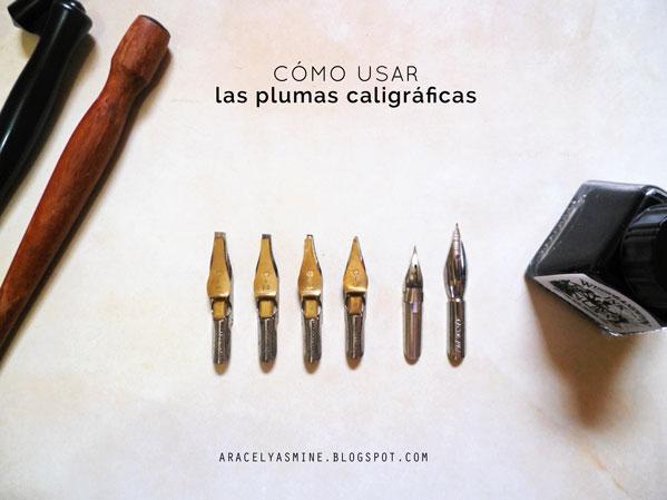 Cómo usar la pluma caligráfica