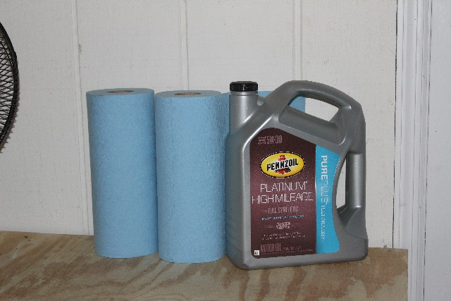 DIY oil change, high mileage oil, Pennzoil, shop towels, #shop #DotComDIY #cbias #CollectiveBias