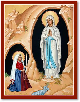Nossa Senhora de Lourdes e Santa Bernadette