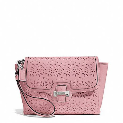 COACH Taylor Eyelet Leather Flap Clutch 50632