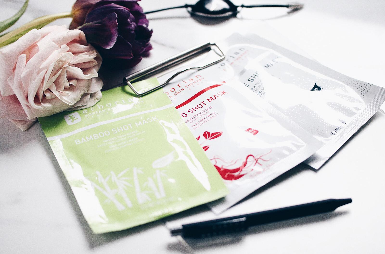erborian mask shot masque tissu ginseng bamboo blanc de shot avis test