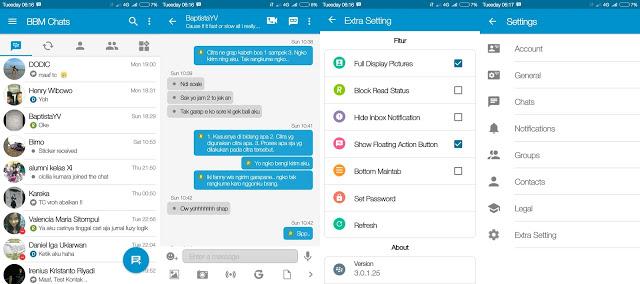 Download BBM Mod Clone Official Versi 3.1.0.25 Apk