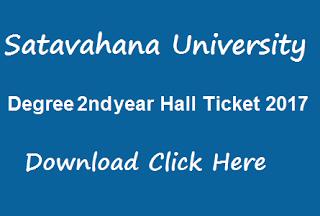 su ug 2nd year hall tickets 2017 download