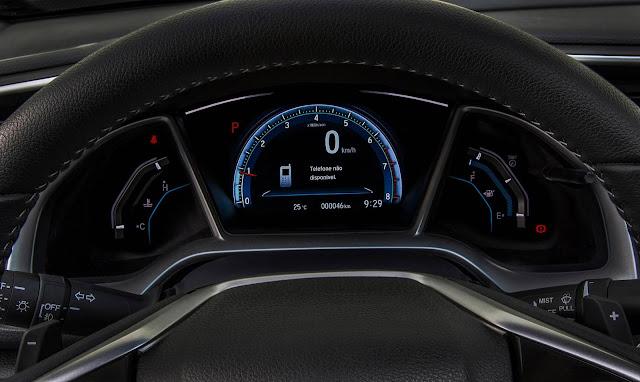Novo Honda Civic 2017 Touring - painel