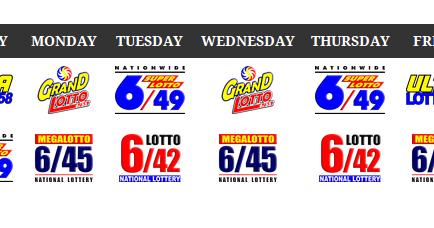 6 55 Lotto Draw Schedule Philippines