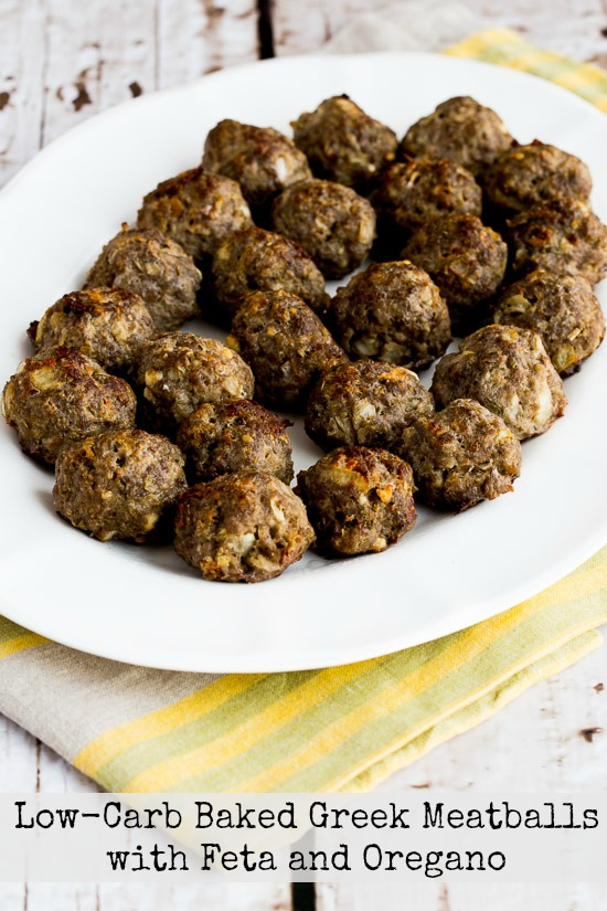 Low-Carb Baked Greek Meatballs with Feta and Oregano were updated ...
