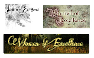 Women of Excellence Floral Logo Design ideas