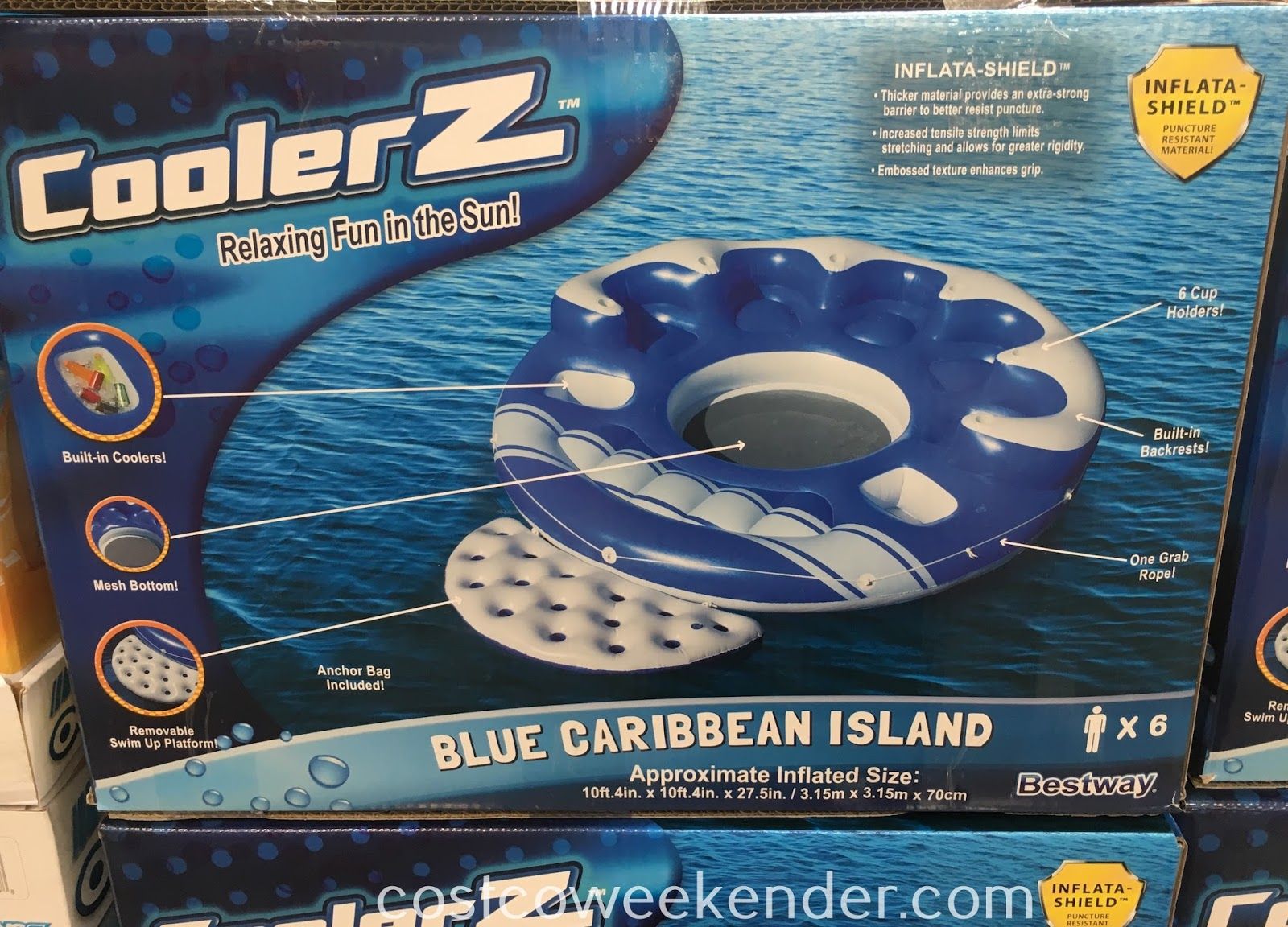 Bestway CoolerZ Blue Caribbean Island - Summer fun has never been better!
