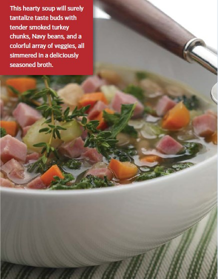 Tuscan Smoked Turkey and Bean Soup Recipe