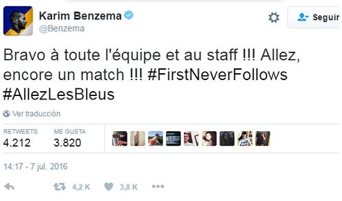 Benzema Mengucapkan Selamat Skuad Prancis
