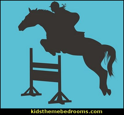 Girl Horse Jumping Chalk Board Decal   horse theme bedroom - horse bedroom decor - horse themed bedroom decorating ideas - Equestrian decor - equestrian themed rooms - cowgirl theme bedroom decorating ideas - Dressage Wall Decals - English riding theme - equestrian bedding - Horse Riding bedding - horse stuff for your bedroom - Pony bedroom ideas -