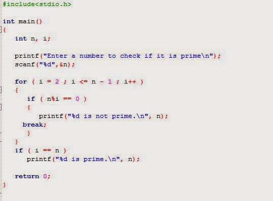 Prime numbers from 1 to 100 using function - C