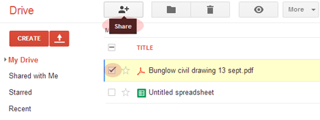 Select and share files on Google Drive