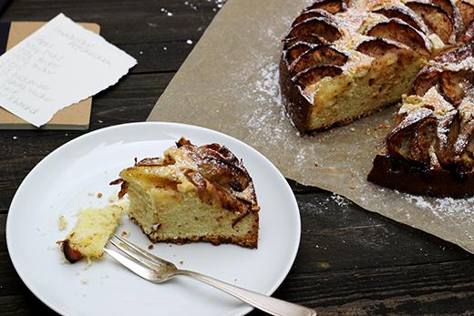 Schwedischer Apfelkuchen mit Zimt einfaches, schnelles Rezept Holunderweg18 Foodblog