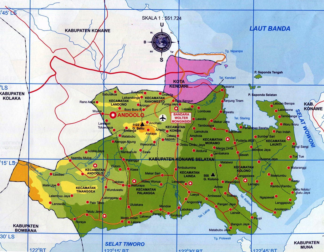 Peta Kota: Peta Kabupaten Konawe Selatan