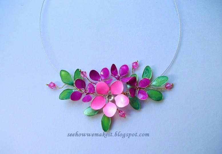 Spring Wire Necklace With Nail Polish How To Make