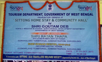 Sittong home stay and community hall inaugurated by minister gautam deb