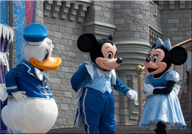 Donald, Mickey and Minnie in the Castle Court Stage Show