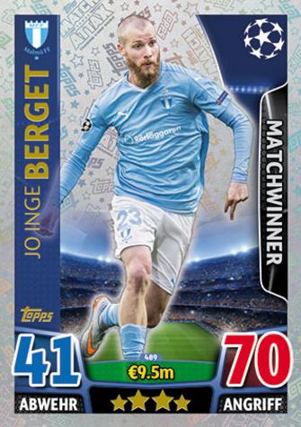 Topps Ligue des Champions 481-Patrick Herrmann-Matchwinner