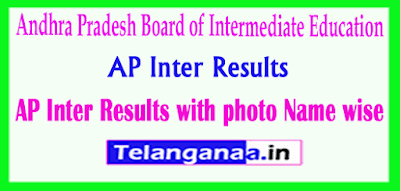 AP Inter Results with photo / Name wise Now Available