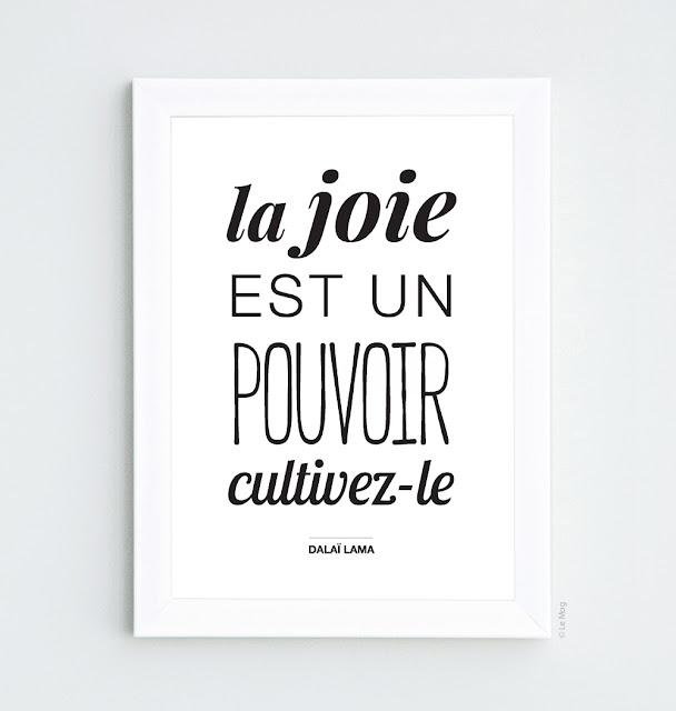 affiche la joie est un pouvoir