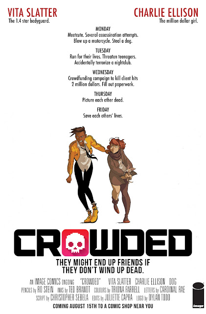 CROWDED by Christopher Sebela, Ted Brandt, Ro Stein & Triona Farrell | Image Comics