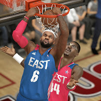 LeBron James dunks in all Star Game