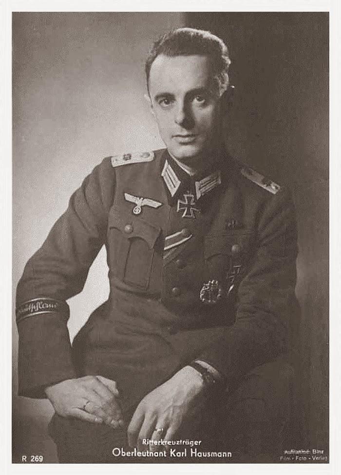 Karl Hausmann Ritterkreuzträger Knight Cross Holder Postcard