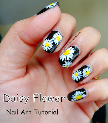 Daisy Flowers on a Lazy Day - Step By Step NailArt Tutorial..
