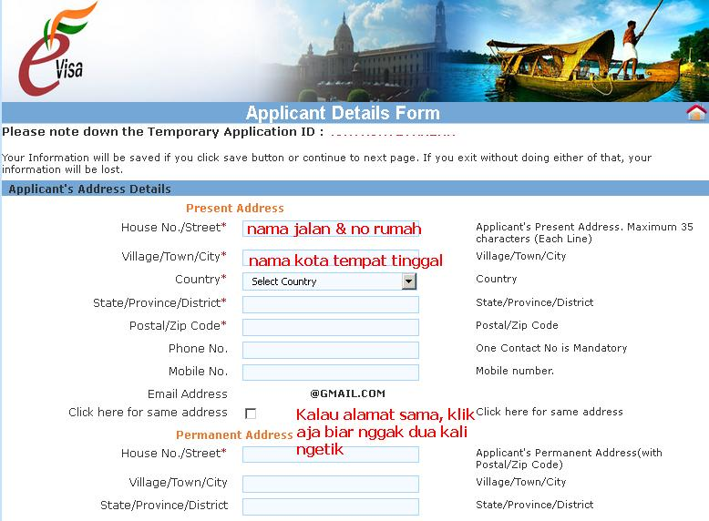 syarat membuat visa india