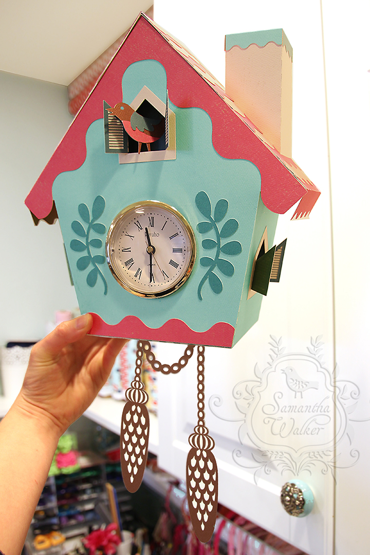 samantha walker u0026 39 s imaginary world  paper cuckoo clock