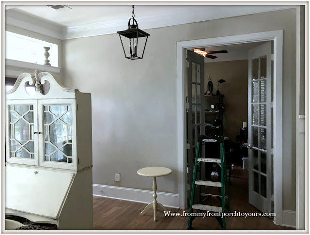 French Country Farmhouse Foyer-Makeover-Agreeable Gray-Shiplap-From My Front Porch To Yours