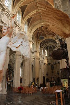 Icare, ange, angelot, église du béguinage, Bruxelles,