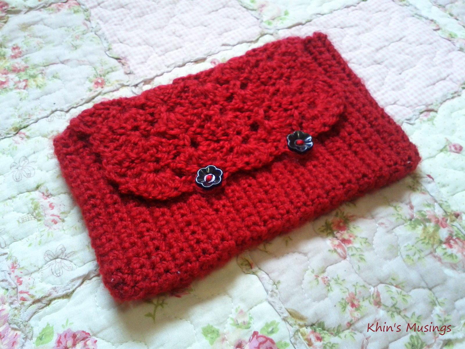 KhinsBoutique: My Crochet Red Pencil Case