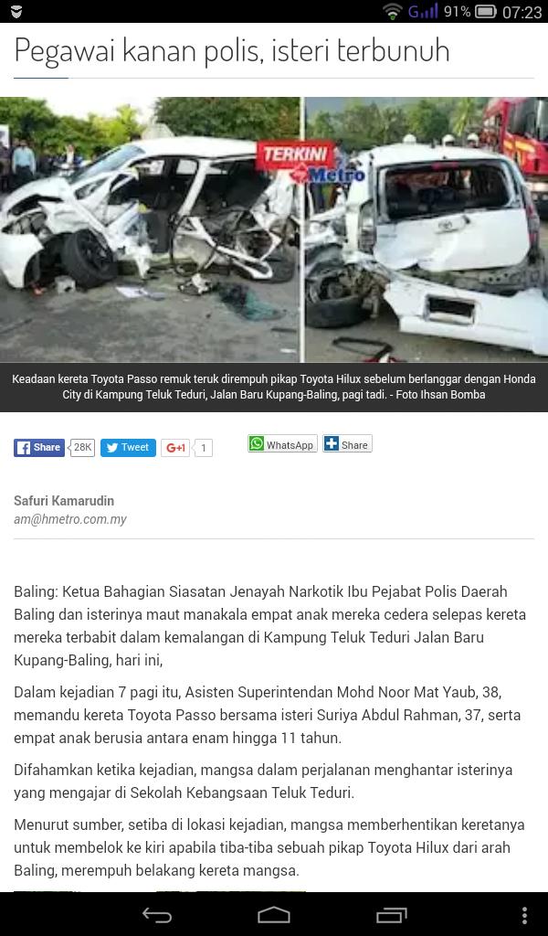 Kemalangan di Baling, 5 Beradik Jadi Yatim Piatu